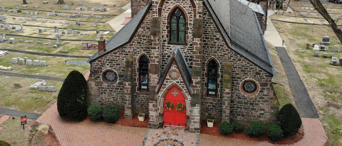 church building from above