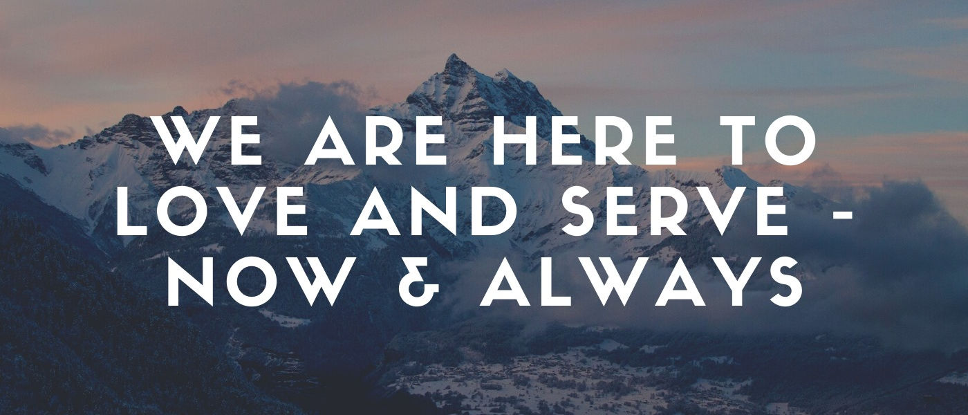 mountains with text superimposed